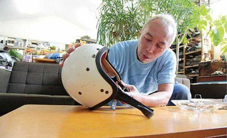 所さんのヘルメット講座 ビンテージヘルメット 再生化計画