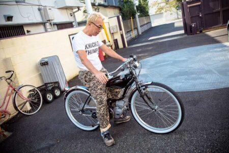 自転車でもなくバイクでも無い?? モペットを所さんが 乗るとどうなる??